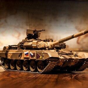 Image 5 - Tanque de batalla principal T90 de 2,4G con Control remoto, tanque con sonido y efecto de disparo de humo, Metal, edición definitiva, Rusia, 1:16
