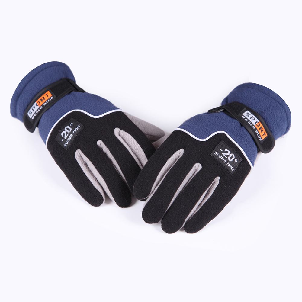 1 Pair Men Women Winter Ourdoor Sport Gloves Ultra Light Polar Fleece Skiing Gloves Windproof Motorcycle Climbing Cycling Luvas