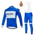 2020 Pro Team QUICK STEP Велоспорт Джерси 9D нагрудник набор Бельгийская велосипедная одежда мужская зимняя теплая флисовая велосипедная Одежда для в...