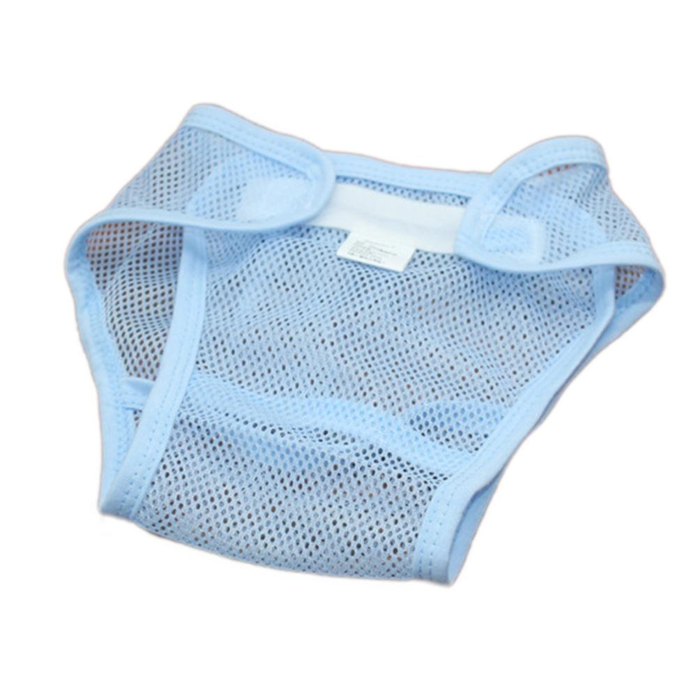 Magic Tape Breathable Baby Newborn Washable Mesh Diaper Cover Pants Reusable