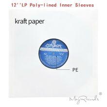 20 sztuk nowy wysokiej jakości ciężki antystatyczny biały poli line papier pakowy na 12 LP rekord winylu wewnętrzne rękawy
