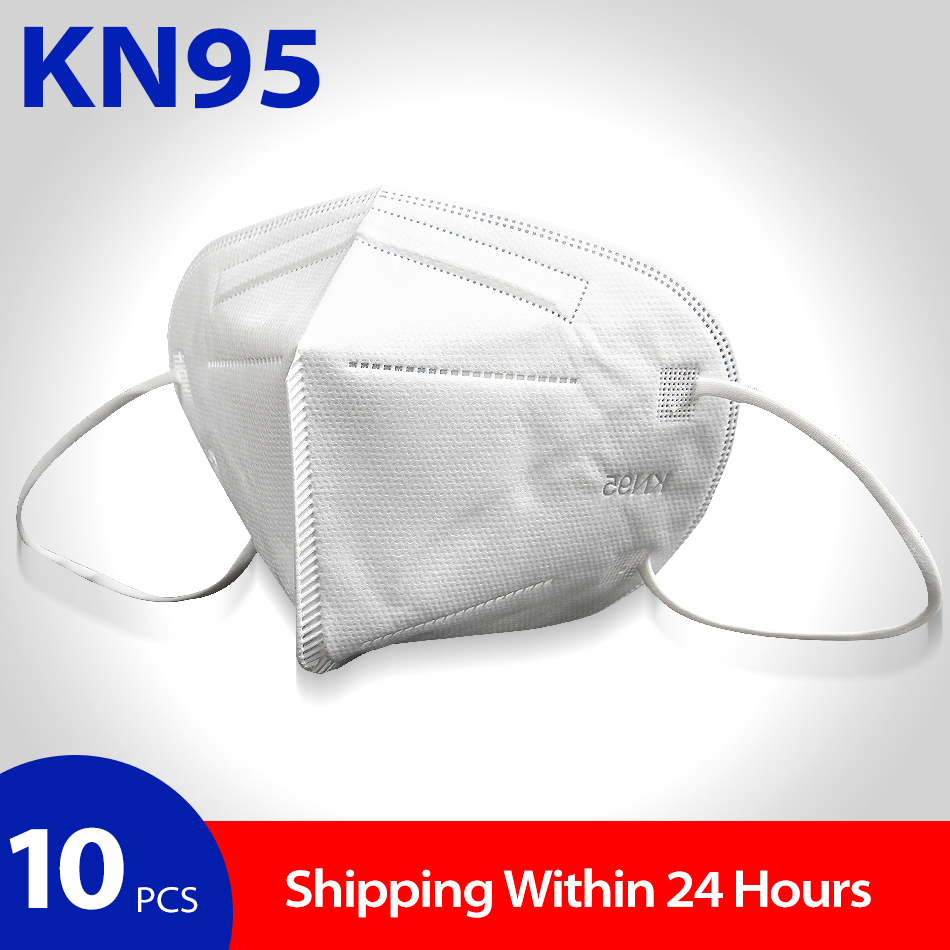 KN95 Surgical Face Mask Medical Masks Virus Protection N95 Disposable Mascarillas Germ PPE Mouth Respirator Antivirus FFP2 KF94
