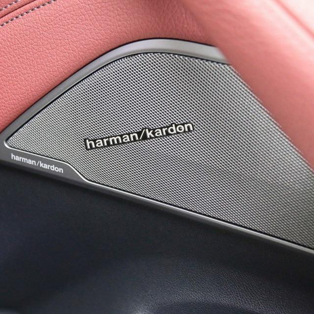5pcs Car Audio Decorate 3D Aluminum Badge Emblem Sticker For Mercedes Benz AMG GLC GLE E CLA GLA W205 W211 W213 Car Accessories