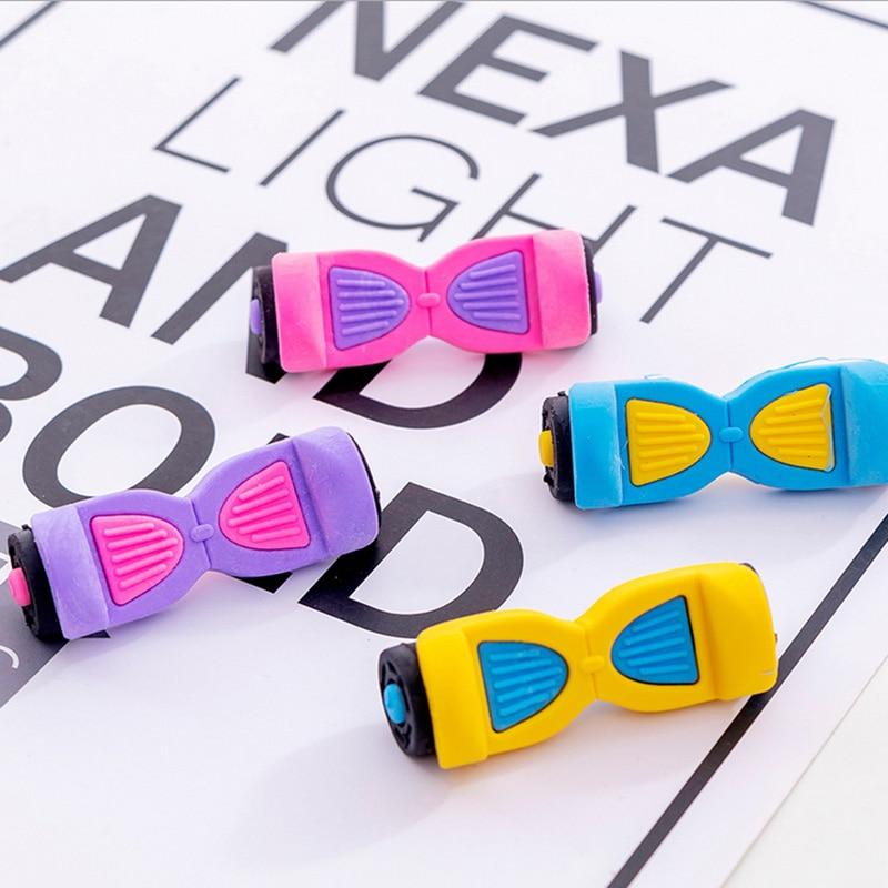 4 Pcs/lot Rubber Erasers Skateboard Modelling Pencil Eraser Students Stationery School Supplies For Children Kids Gift Eraser