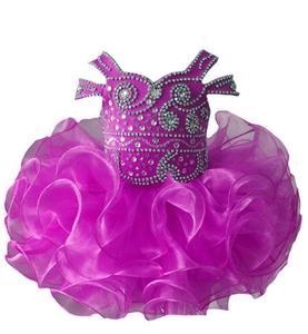 Image 5 - Платье пачка с бретельками, украшенное бусинами, для младенцев, для первого причастия, на заказ, для маленьких девочек, платье для дня рождения