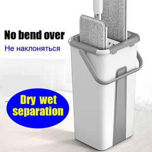 Wring Squeeze Mop with Bucket Washing for Floor Wet Head Home Help Dust Lightning Offers Magic Lazy Wipe House Cleaning Up Tools