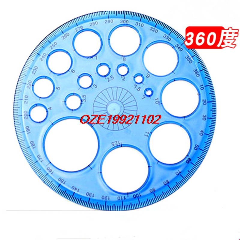 1pcs 360 Degree Protractor Full Circle Instrument Drawing Circle Template Protractor Multifunction Drawing Round Ruler
