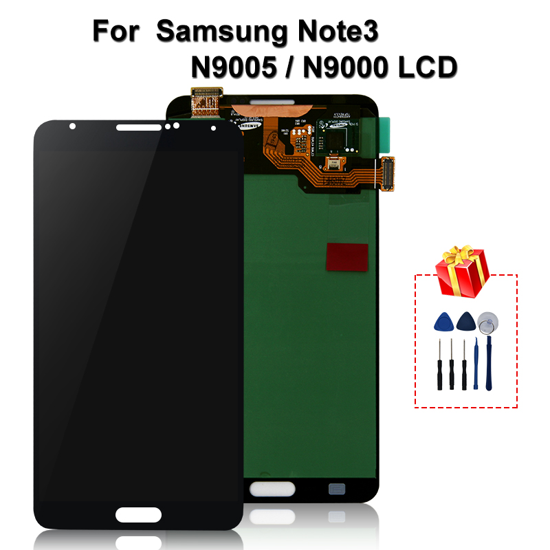 Original For Samsung Galaxy Note 3 <font><b>LCD</b></font> Display Touch Screen Digitizer Replacement Parts For <font><b>N9000</b></font> N9005 N900 N900A <font><b>LCD</b></font> image