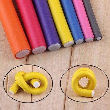 10 pcs/Lot Soft Hair Curler Roller Curl Hair Bendy Rollers DIY Magic Hair Curlers Tool Styling Rollers Sponge Hair Curling