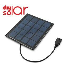 DC Panel słoneczny 2W 2.5W 4.5W 5W 5V USB wyjście ładowarka Regulator napięcia powerbank do telefonu DC odkryty ogniwo słoneczne