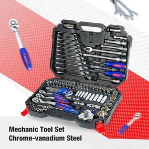 Image 3 - WORKPRO 123PC zestaw narzędzi do naprawy samochodów narzędzie mechaniczne zestawy wkrętaki klucz zapadkowy klucze gniazda