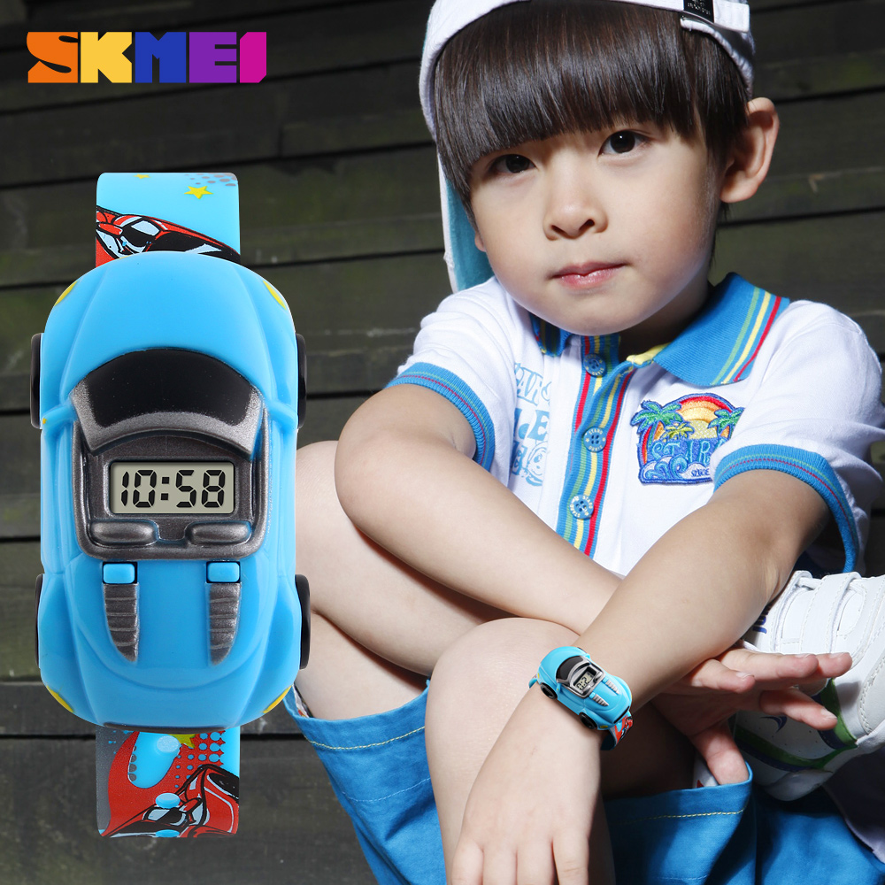 Children Watches SKMEI Cartoon Creative Watch For Boys Girls Car Shape Fashion Cute Sport Kids Digital Watch Reloj Infantil 1241