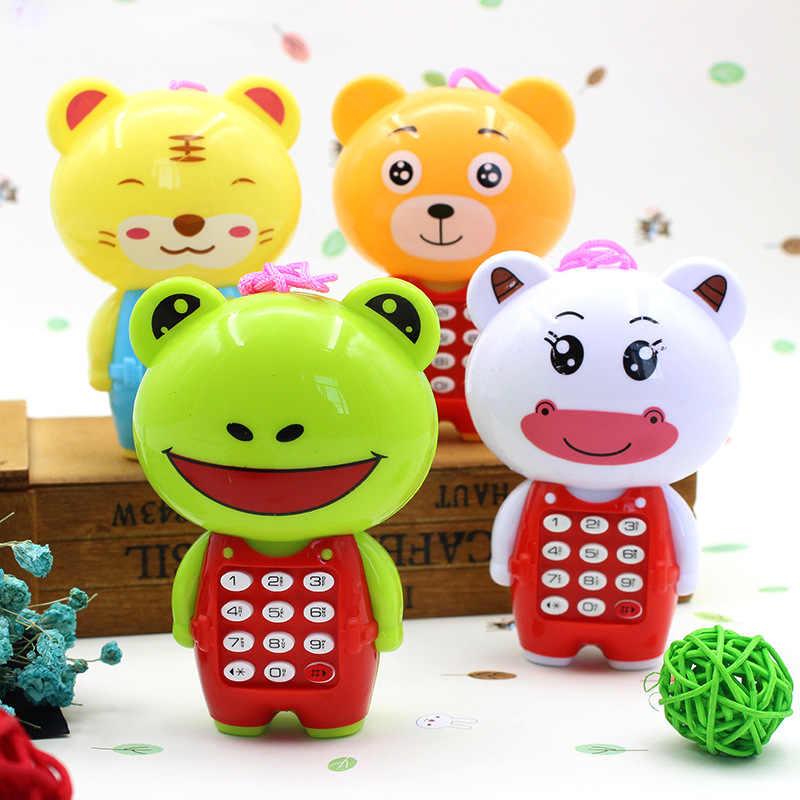 Di trasporto del nuovo Creativo Telefono di Musica Del Fumetto Del Bambino Giocattoli Educativi Telefono Mobile di Apprendimento Giocattolo Elettrico Modello di Telefono Macchina Best Regalo Per I Bambini