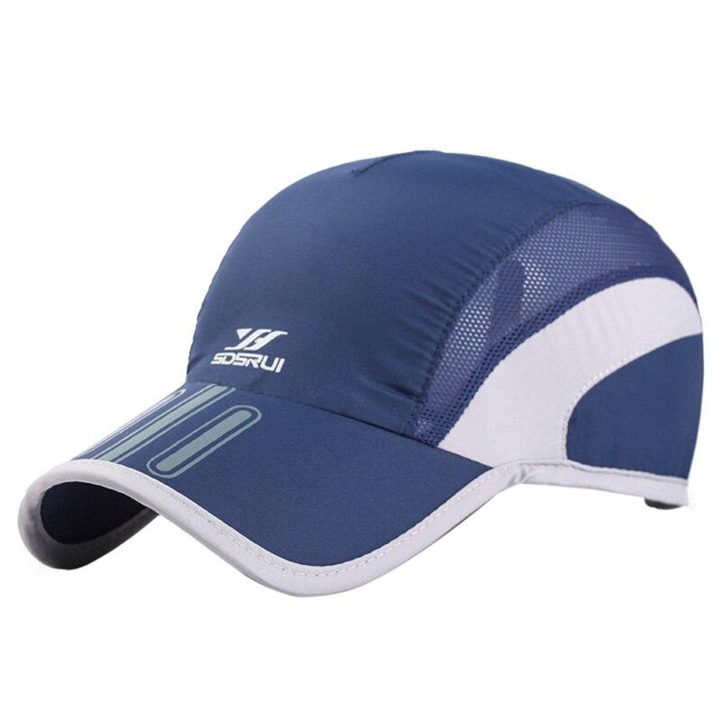 Men Mesh Cap Cycling Running Baseball Tennis Hat Breathable Quick Dry Hat Bone Snapback Male Climbing Running Sport Hats