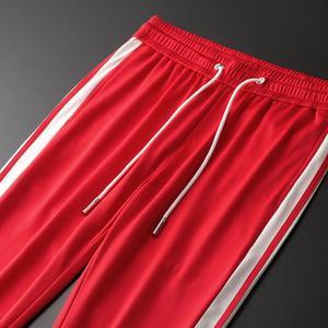Image 4 - Minglu אדום Mens מכנסיים יוקרה אביב ובסתיו סרט קצה גברים מכנסיים בתוספת גודל 3XL 4XL אלסטי מותן Slim Fit ספורט מכנסיים Man