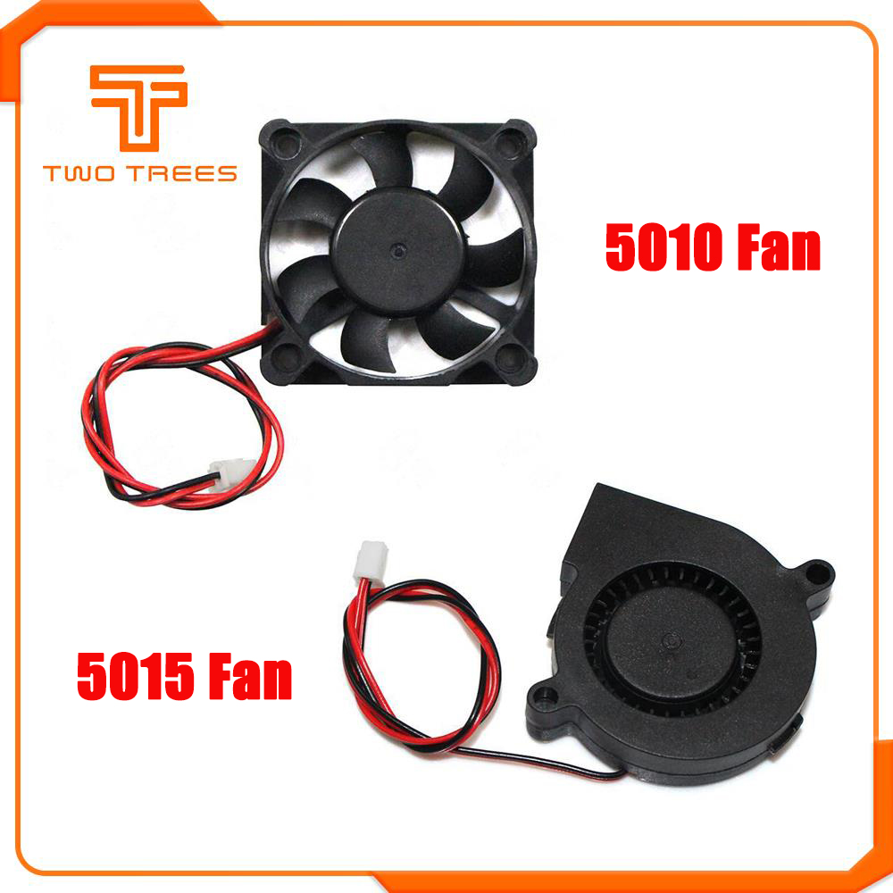 Tool Parts 12V 2Pin Brushless Blower DC Cooling Fan 5015 50x50x15mm 3D Printer Extruder