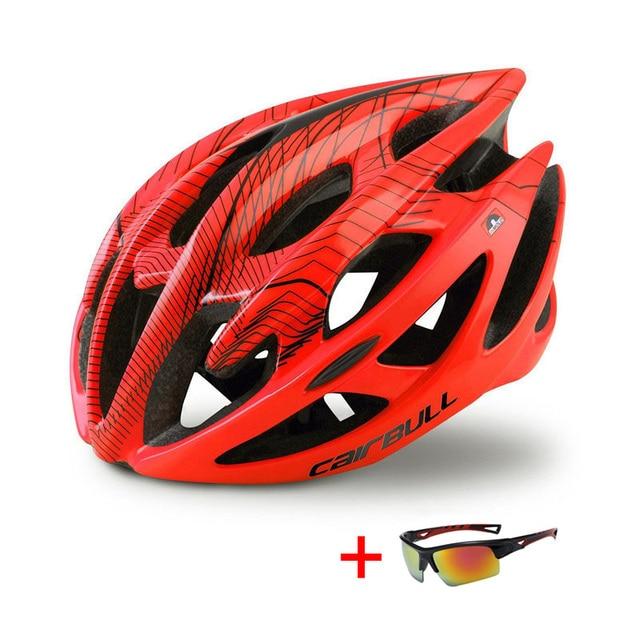 Trilha dh mtb capacete de bicicleta com óculos de sol ultraleve corrida ciclismo capacete das mulheres dos homens in-mold estrada da bicicleta de montanha capacete 5