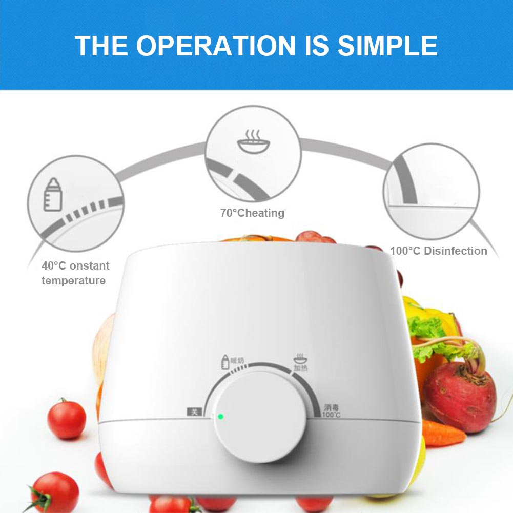 Baby Durable PP Universal Thermostatic Sterilizer Fast Heater Milk Warmer Safe White Multifunctional Portable Double Bottle
