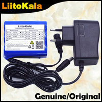 Liitokala 12V 4.4 Ah 4400mah 18650 şarj edilebilir pil 12V + PCB lityum pil paketi koruma levhası + 12.6V 1A şarj cihazı