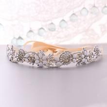 TRiXY S431 элегантный серебро горный хрусталь пояса свадебные Sash свадебные для платья невесты драгоценность женщины пояс