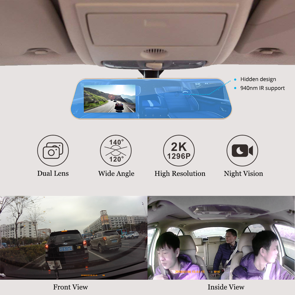 DashCam Dual Camera Google Map GPS Tracker Speed Location Good For UBER Driver