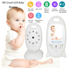 Wireless Video Baby Monitor 2-Way Talk Night Vision LED Temperature Baby Care 2.0 Inch Color Security LCD Screen Camera babykam video baby monitor 2 0 inch lcd 2 way talk temperature monitor lullabies ir night vision baba electronics baby sitter