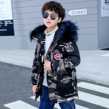 Boy winter fashion warm down jacket Boy cold camouflage casual jacket Boy hooded white duck down jacket Boy winter jacket фото