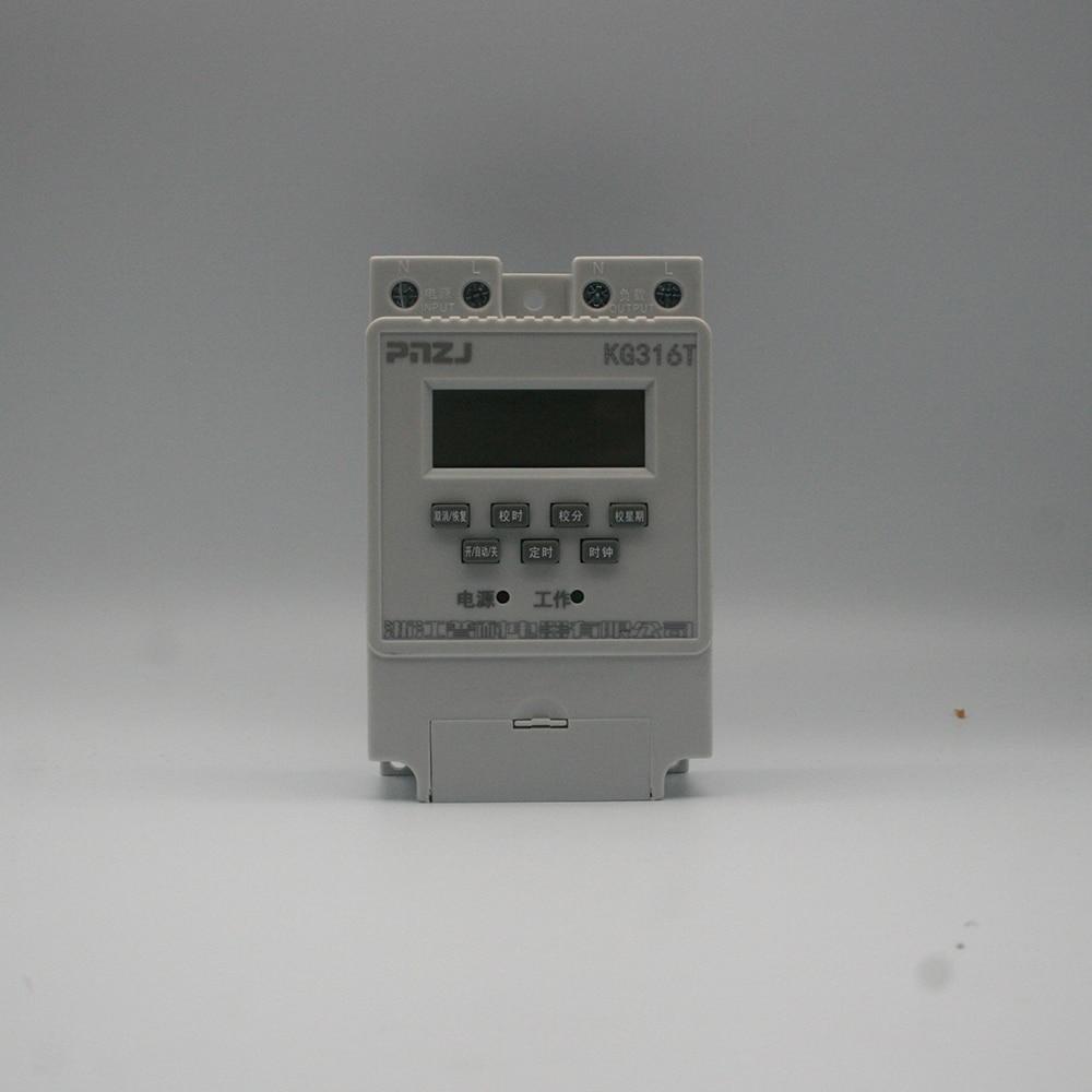 Nenhuma bateria nova kg316t 25a microcomputador inteligente programável temporizador eletrônico interruptor de tempo relé controlador ac 220v