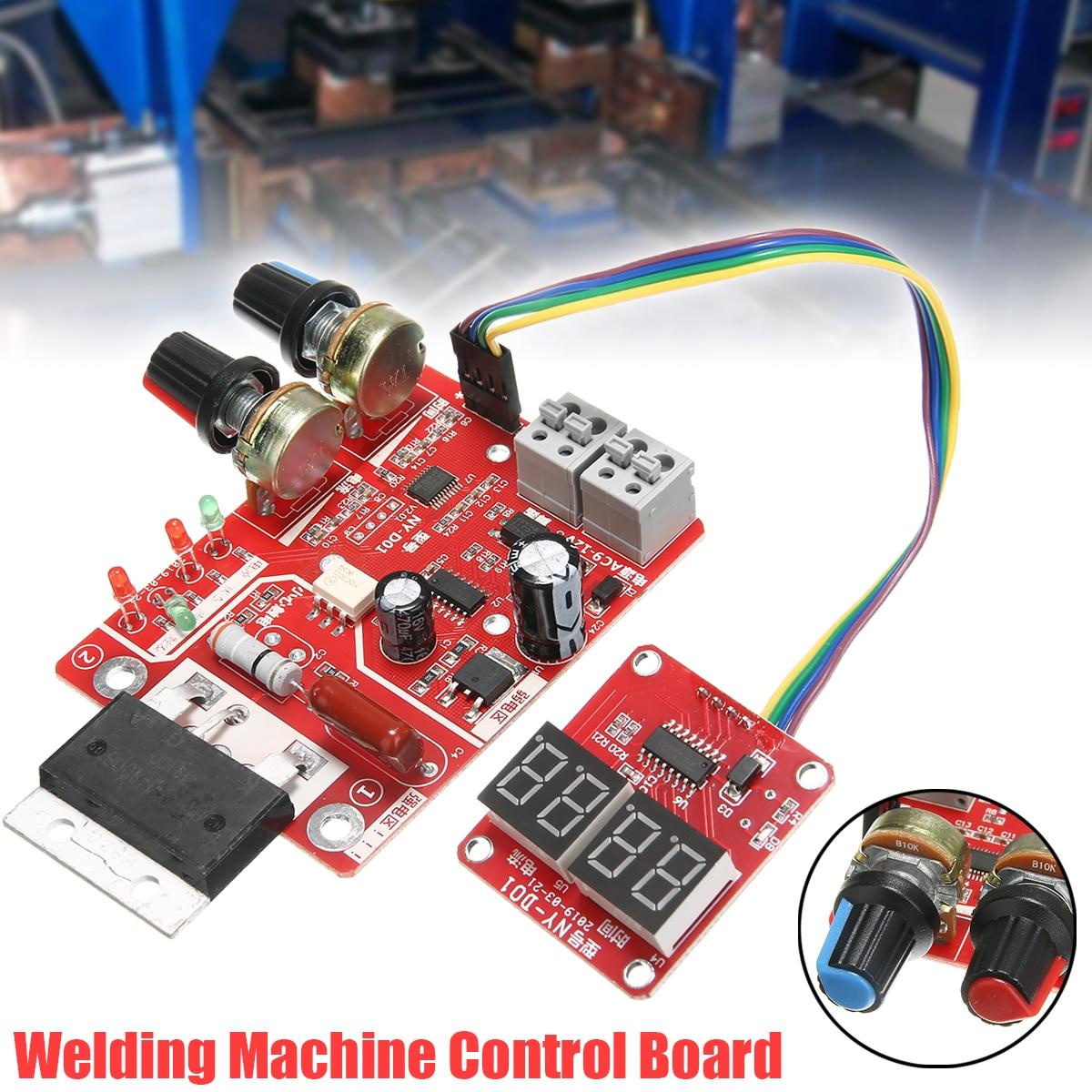 100A Spot Welding Machine Control Board Welder Transformer Controller Board Timing Current Time Current Digital Display
