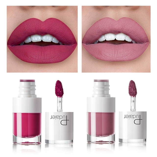 Pudaier 16Color Nude Matte Lipstick Waterproof Liquid Lipstick Long Lasting Moisturizer Women Red Lip Stick Tint Makeup Cosmetic