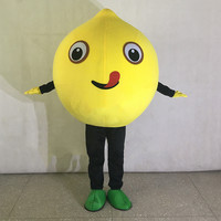 New Revised Version Sweety Fruit Lemon Halloween Cosplay Mascot Costume Adult Cartoon Mascot Costumes Foam Apparels Free Ship