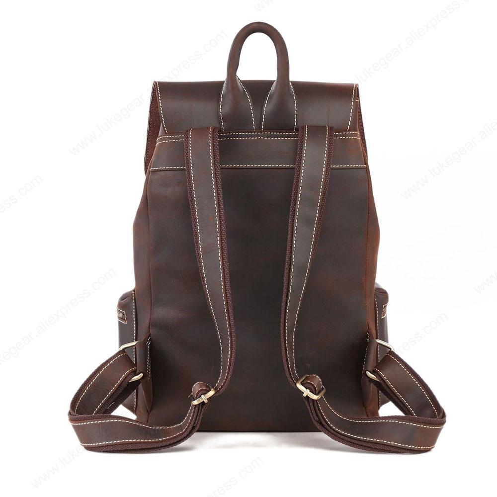 Женский рюкзак ручной работы из натуральной кожи, рюкзаки для путешествий, высококачественные школьные сумки из прочного материала - 2