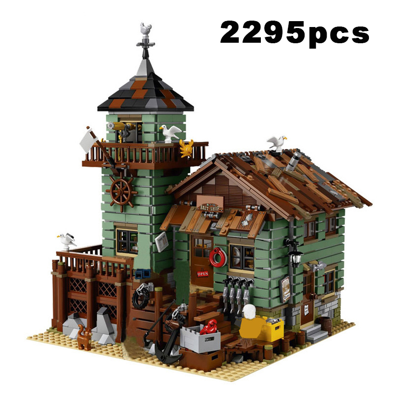 New 2674pcs Creator Fisherman's Wharf Series Building Block Captain's Wharf House Restaurant Bricks Toys for Boys Birthday Gifts