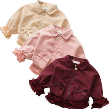 Fashion Kids Baby Girls Coat Jacket Princess Zipper Ruffle L
