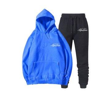 Image 3 - Мужская спортивная одежда с принтом, пуловер в стиле хип хоп, новинка 2019
