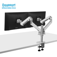 2019 New OL 2Z Desktop 17 32 inch Dual Monitor Mount Arm Full Motion Aluminum Monitor Holder Gas Spring Arm Load 2 9 kgs Each