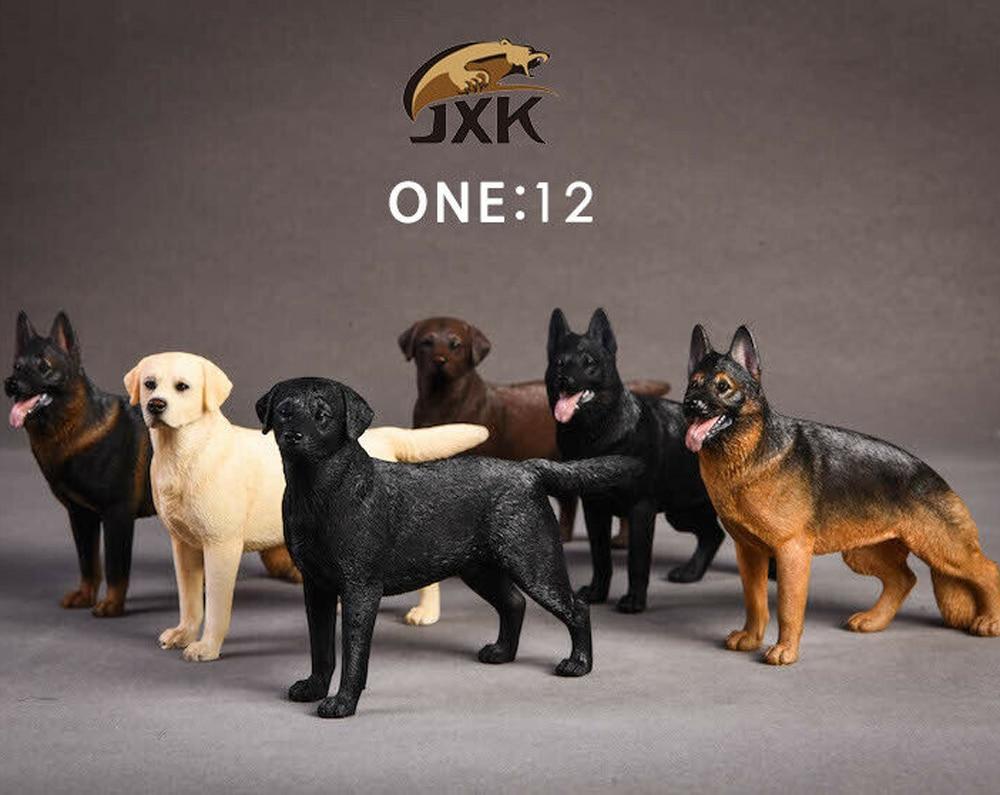 JXK 1//12 Jxk022 Dobermann Animal model Black Skin Color Pet Toy F 6/'/' Figure