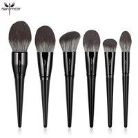 Anmor wysokiej jakości pojedynczy miękki pędzel do makijażu puder syntetyczny do włosów puder do konturowania twarzy drewniany uchwyt pędzle do makijażu