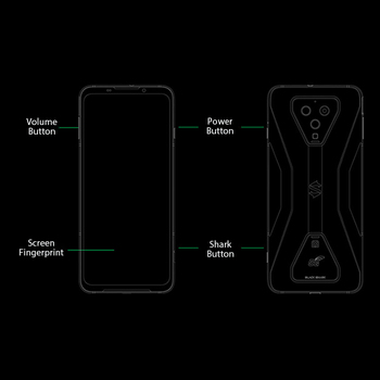 Global Version Black Shark 3  8GB 128GB Snapdragon 865 5G Game Phone Octa Core 64MP Triple AI Cameras 65W Charger JOYUI 11 3