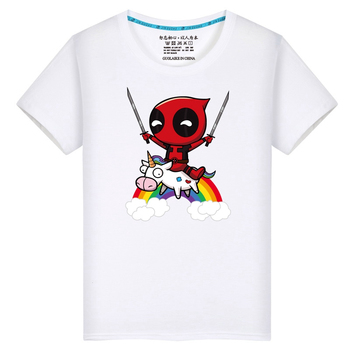 Harajuku, camiseta de gran tamaño para hombre de Deadpool, divertidas camisetas DIY con foto o logotipo, camiseta blanca, camiseta de hombre Hip Hop para fanáticos de marvel, camisa 7XL
