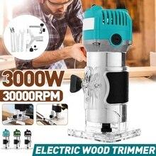 6,35mm 3000W Holz Elektrische Hand Trimmer Holzbearbeitung Laminator Zimmerei Gravur Maschine Schlitzen Trimmen Holz Router Bit Set