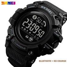 SKMEI wodoodporny zegarek cyfrowy mężczyźni kalorii pulsometr męskie zegarki na rękę LED mężczyźni godzina zegar z Batteryreloj hombre 1643