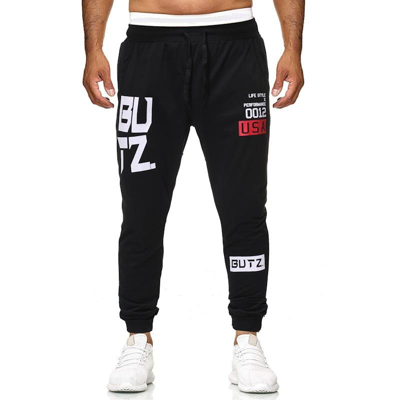Men Comfortable Soft Letter Print Sweatpants Brand Joggers Pant Male Loose Casual Cotton Trousers Tracksuit Bottoms Pants