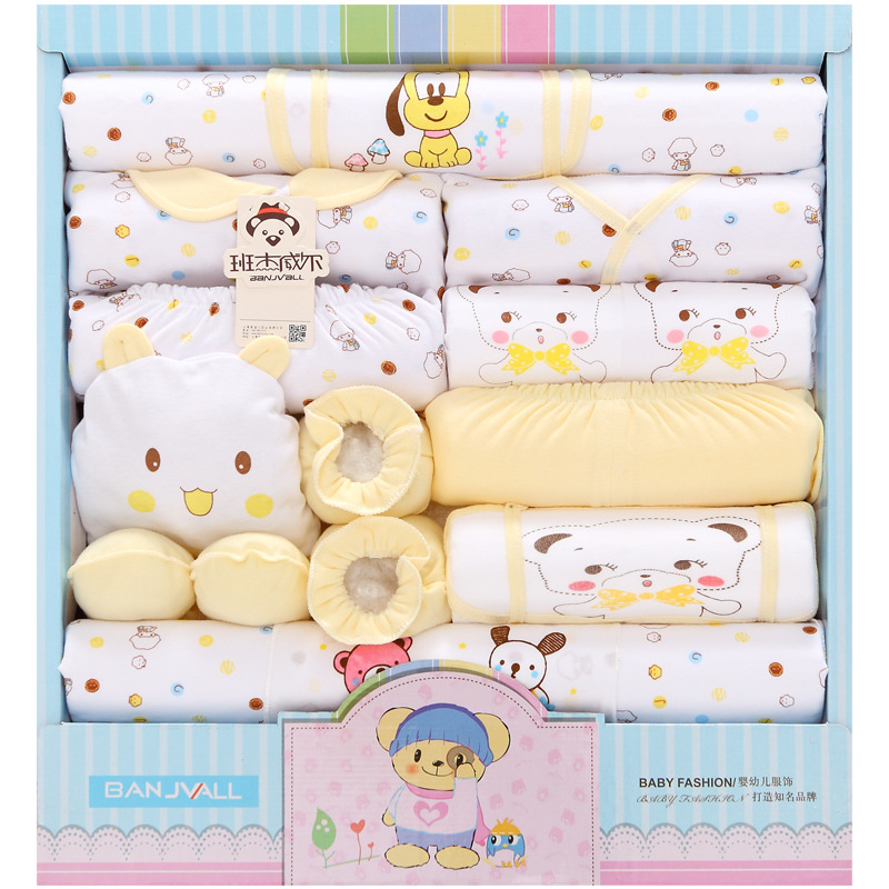 18 Pieces Clothes For Babies Pure Cotton Newborns Gift Box Spring And Summer Newborn Baby Set BABY'S FIRST Month Maternal And Ch