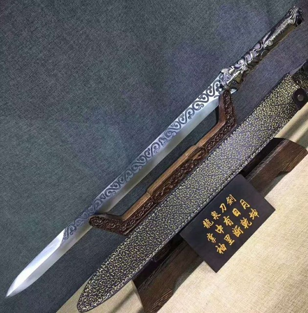 Handmade one manganese steel sword seven holy Tang Jian hard sword short sword self-defense house sword not edged