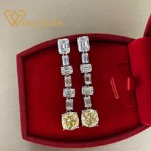 Wong Rain Luxury 100% 925 Sterling Silver Created Moissanite