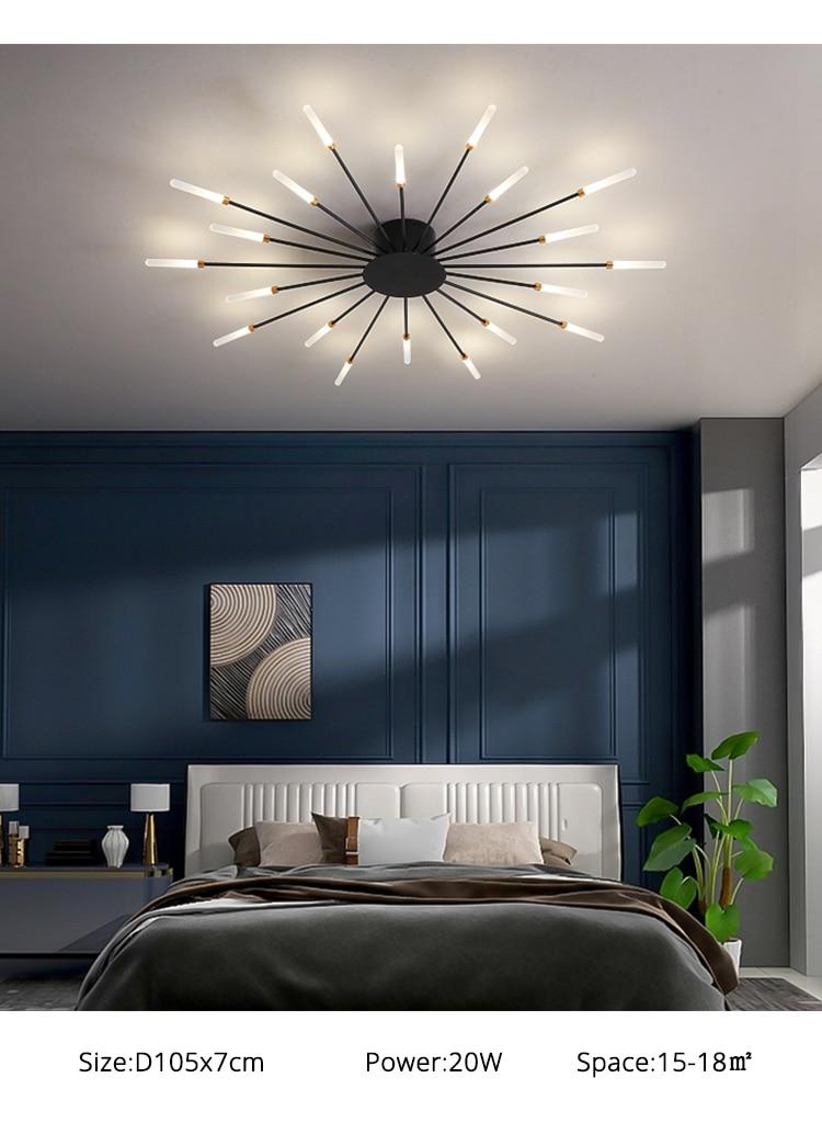 interior preto ouro lâmpada do teto quarto