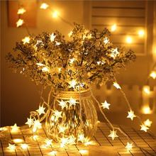 50 LED Star String Lights Plug in Fairy String Lights Waterproof for Indoor Outdoor Party Christmas New Year