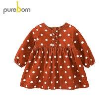 Dress Spring Long-Sleeve Polka-Dot Toddler Girls Pureborn Autumn Halloween