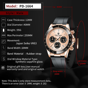 Image 4 - PAGANI 2020 Neue Quarz männer Uhren Sport Business/Wasserdicht/Uhr Männer Edelstahl Männlichen Handgelenk Uhren Relogio masculino